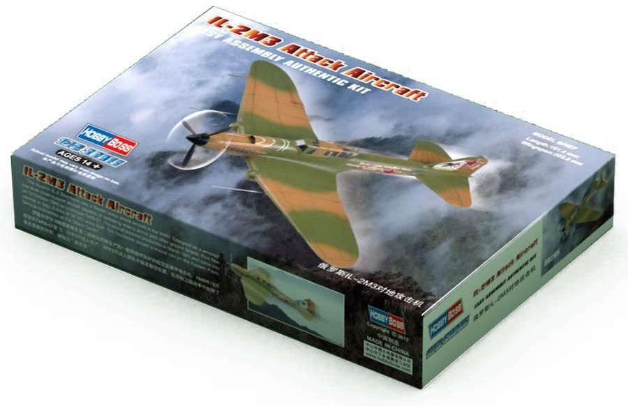 HobbyBoss 80285 IL-2M3 Ground-attack aircraft (Ильюшин Ил-2М3 советский штурмовик)