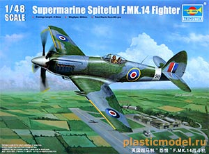 Trumpeter 02850 1:48, Supermarine Spiteful F.MK.14 Fighter (Супермарин «Спайтфул» F.MK.14)