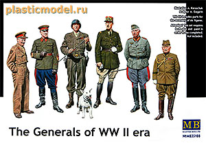Master Box 35108 1:35, The Generals of WWII era (Генералы эпохи 2МВ)