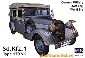 Master Box 3530 1:35, Sd.Kfz.1 type 170 VK german military staff car, WWII era (Тип 170 VK немецкий военный автомобиль, 2МВ)