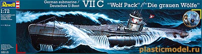 "Revell 05015 1:72, German submarine VIIC ""Wolf Pack"" (Подводная лодка типа VIIC «Вольф Пак»)"