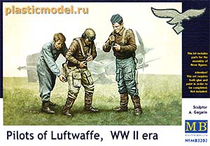 Master Box 3202 1:32, Pilots of Luftwaffe, WWII era (Пилоты Люфтваффе, 2МВ)