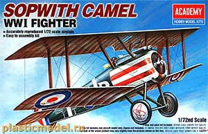 Academy 12447 1:72, Sopwith Camel WWI Fighter (Сопвич «Кэмел» британский одноместный истребитель 1МВ)