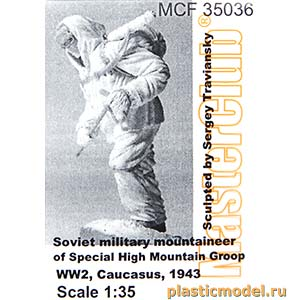 MasterClub MCF35036 1:35, Soviet military mountaineer of Special High Mountain Groop WW2, Caucasus, 1943 (Советский горный стрелок высокогорной спецгруппы, 2МВ, Кавказ, 1943 год)