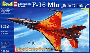 "Revell 03980 1:72, Lockheed Martin F-16 Mlu ""Solo Display"" (Локхид Мартин F-16 «Соло Дисплей» / «Сольное выступление»)"