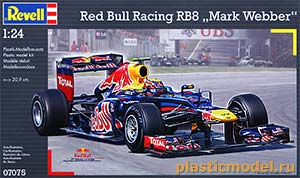 "Revell 07075 1:24, Red Bull Racing RB8 ""Mark Webber"" F-1 (RB8 команды Ред Булл Рейсинг Марка Уэббера Формула-1 сезона 2012 года)"