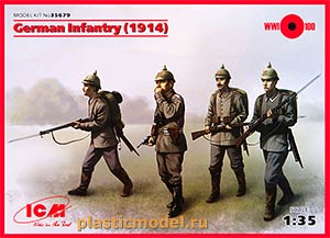 ICM 35679 1:35, German Infantry, 1914 (Германская пехота, 1914 год)