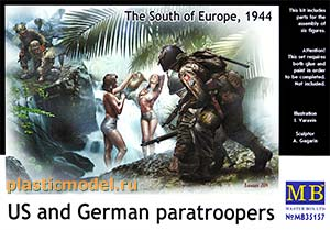 Master Box 35157 1:35, US and German paratroopers, The South of Europe, 1944 (Американские и немецкие десантники, юг Европы, 1944 год)