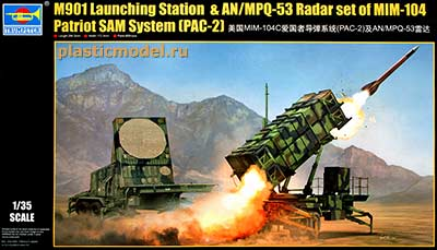 Trumpeter 01022 1:35, Set of MIM-104 Patriot SAM System PAC-2: M901 Launching Station & AN/MPQ-53 Radar (ЗРК  MIM-104 «Пэтриот» PAC-2: пусковая установка с ракетами и РЛС AN/MPQ-53)