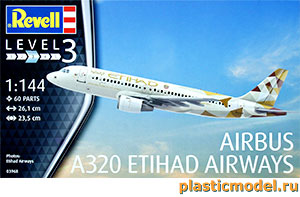 Revell 03968 1:144, Airbus A320 Etihad Airways (Аэробус А320 национальной авиакомпании Объединённых Арабских Эмиратов «Этихад эйрвейз»)