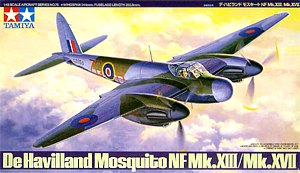 Tamiya 61075 1:48, De Havilland Mosquito NF night fighter Mk.XIII/Mk.XVII (Де Хевилленд Москито Mk.XIII / Mk.XVII британский ночной истребитель 2МВ)