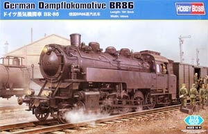 HobbyBoss 82914 1:72, German Dampflokomotive BR86 (Серия 86 германский танк-паровоз)