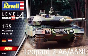 Revell 03281 1:35, Leopard 2 A6/A6NL («Леопард 2» модификации A6/A6NL немецкий танк)