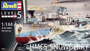 Revell 05132 1:144, HMCS Snowberry Flower Class Corvette («Сноуберри» корвет типа «Флауэр», 2МВ)