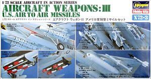 Hasegawa 35003 1:72, X72-3 Aircraft Weapons:3 U.S. Air to Air Missiles