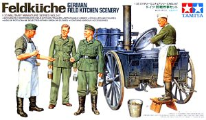 Tamiya 35247 1:35, Feldkuche German field kitchen scenery (Немецкая полевая кухня)