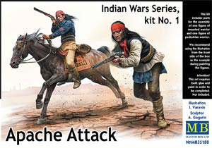 Master Box 35188 1:35, Apache Attack. Indian Wars Series, kit No.1 («Апачи атакуют». Серия Индейские войны, набор 1)