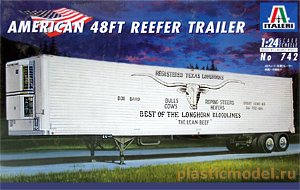 Italeri 742 1:24, American 48ft reefer trailer