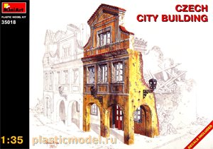 Miniart 35018 1:35, Czech city building (Чешское городское здание)