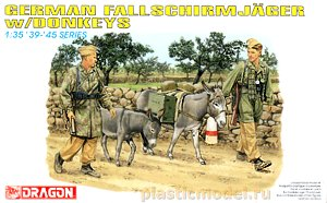 Dragon 6077 1:35, German fallschirmjäger with donkey