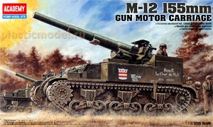 Academy 1394 1:35, M-12 155-mm gun motor carriage