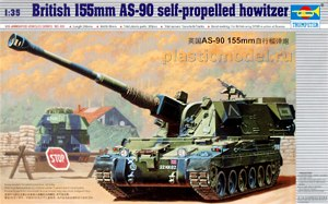 Trumpeter 00324 1:35, British 155mm AS-90 self-propelled howitzer (AS-90 Британская 155-мм самоходная гаубица)