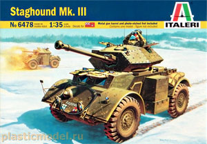 Italeri 6478 1:35, Staghound Mk.III (Бронеавтомобиль «Стэгхаунд» Mk.III)