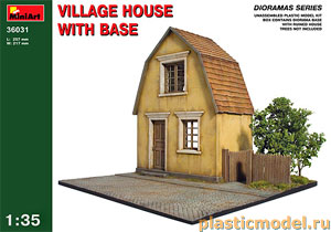 Miniart 36031 1:35, Village house with base (Деревенская диорама)