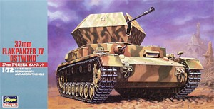 Hasegawa 31147 1:72, 37mm Flakpanzer IV Ostwind (German Army Anti-Aircraft Vehicle)