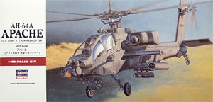 Hasegawa 07224 1:48, AH-64A Apache (U.S. Army attack helicopter)