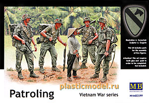 Master Box 3599 1:35, Patroling, Vietnam War series (Патрулирование. Война во Вьетнаме)