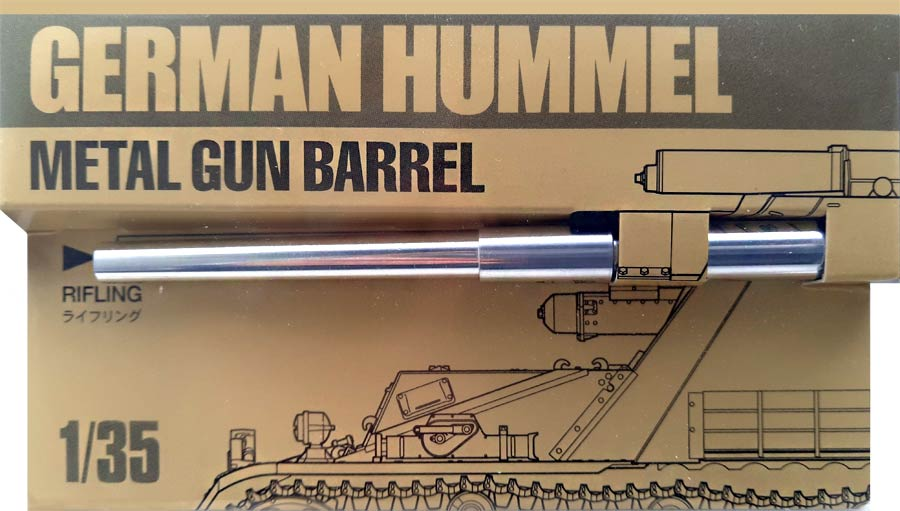 Tamiya 12688 Hummel Metal Gun Barrel (Металлический ствол для «Хуммель»)