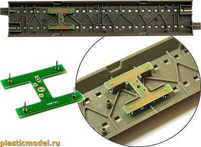 plasticmodel 87002, Контактная группа для рельс Роко Геолайн (Contact group for Roco Geoline)